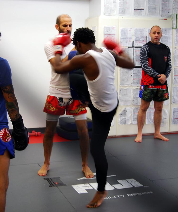 Daishaun makes a power kick!