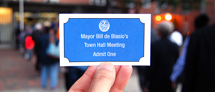 GSOS at Mayor de Blasio Town Hall