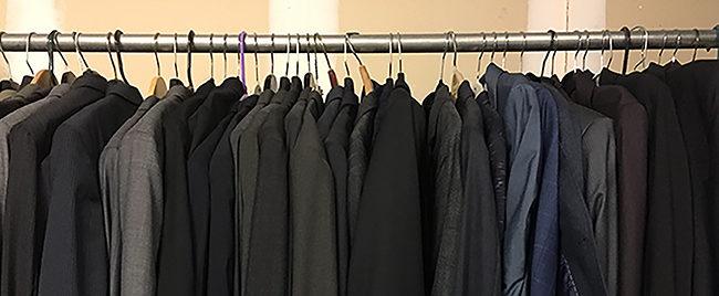 Donated clothing at GOSO's Harlem office