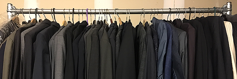 Donated clothing at GOSO's Harlem office