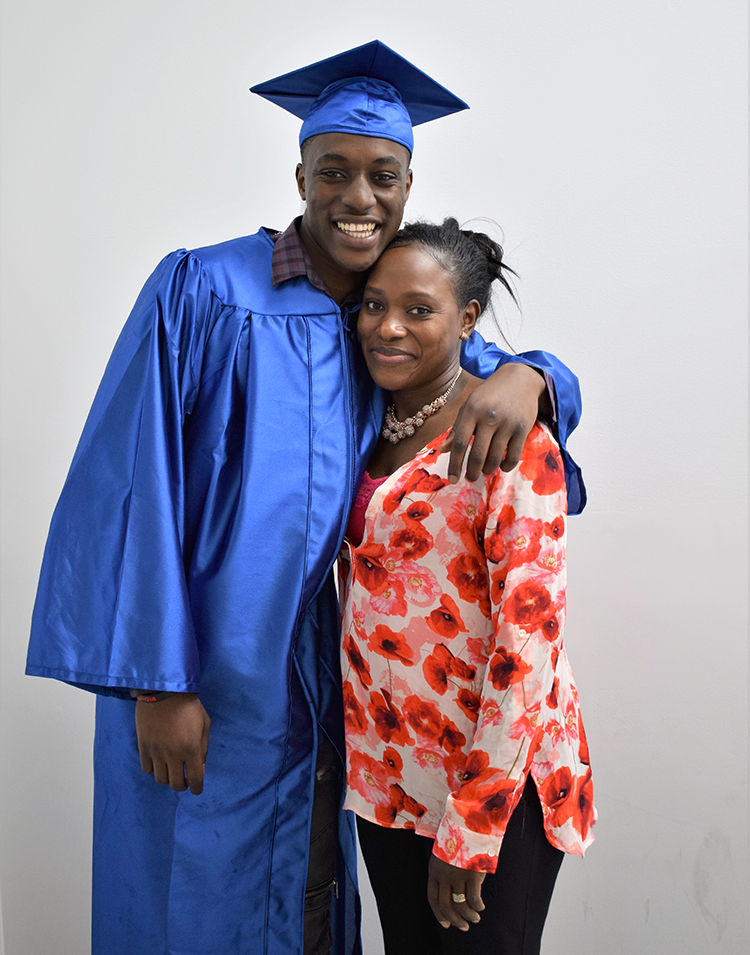 Graduate Boubacar and his mother