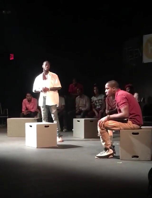 Jonathan C. and Cameron performing