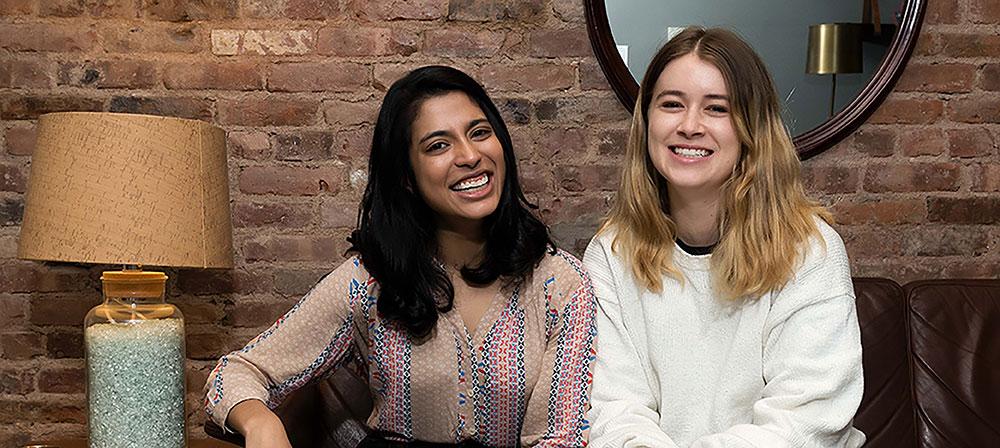 Viveka with Beam co-fiounder Alex