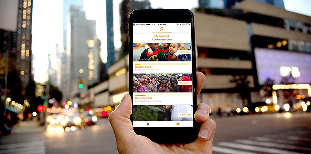 Beam app on a phone
