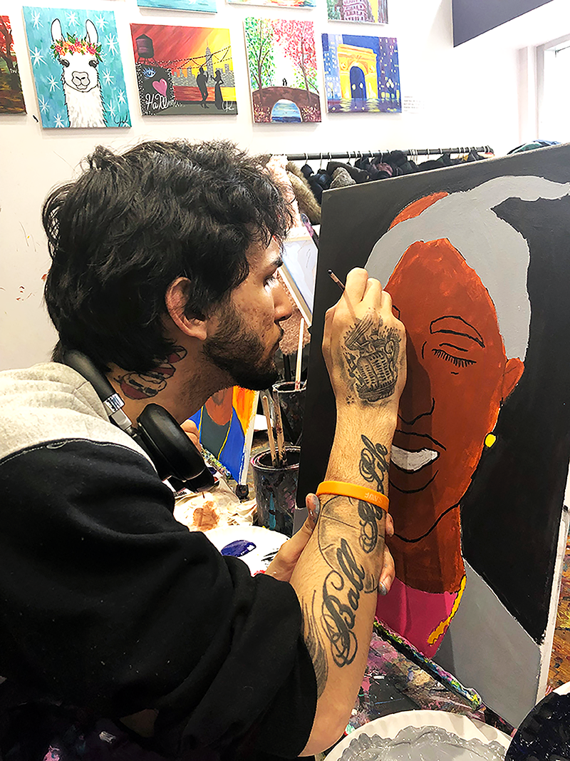 Keybo C. paints tupac