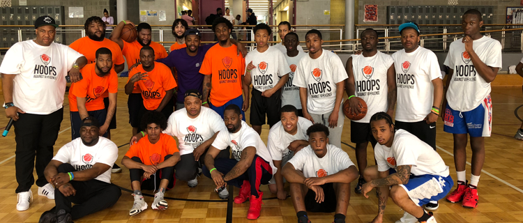 Hoops Against Violence group shot