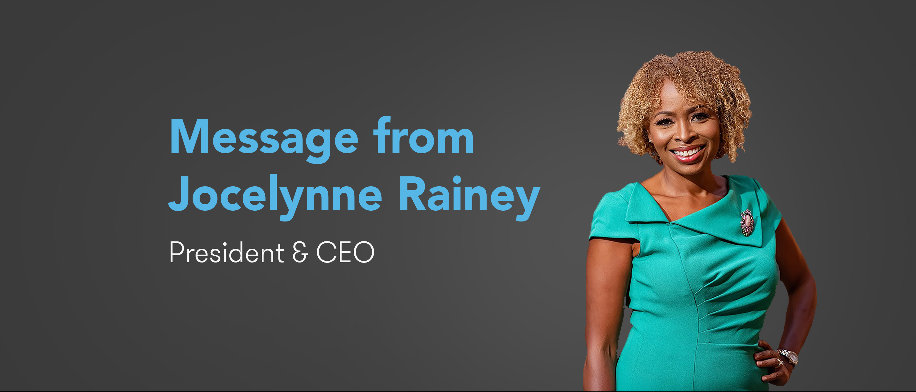 Message from Jocelynne Rainey